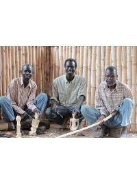 The team at work by Karamoja Sculpture Group