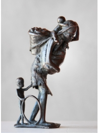 Woman Carrying G-nuts by David Bwambale