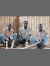 The team at work by Karamoja Sculpture Group